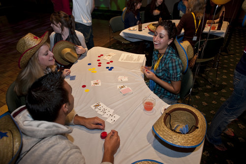 Fuse's own Alyssa Figueroa '12 dishes out some luck at the poker tables.