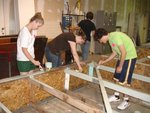 students build shelves
