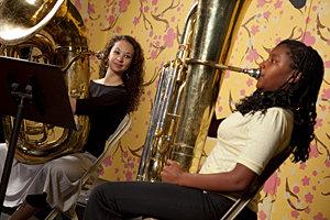Ithaca College music education student teacher