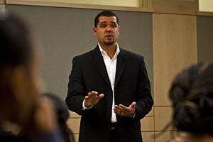 Assistant Professor Sean Eversley Bradwell. Photo by Caylena Cahill '10