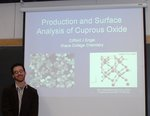 Cliff Engel (Chemistry '09) presenting his honors research.