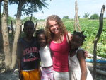 Kids and I at the Haitain Batey