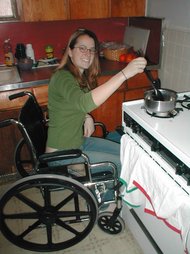 Wheelchair Use In The Kitchen Experiential Learning Class