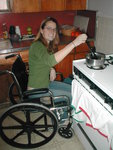 Wheelchair use in the kitchen