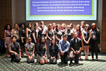 A group shot of the students who were honored with the Outstanding award