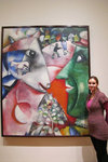 Admiring a Chagall painting at MoMA