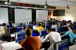 Students study in the Center for Trading and Analysis of Financial Instruments