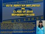 Arantxa Benjamin Class of 2013 Senator Candidate