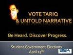Tariq Meyers Class of 2014 Senator Candidate