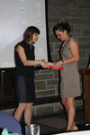 Abby Jamiel receiving the 2011 Art History Prize