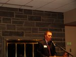 Ithaca College's President addresses the Rainbow Reception attendees