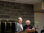 Two Retired Faculty Members accept the IC Ally Award