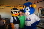 Dr Johnson with mascots