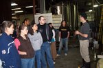 The E3 students learn about the beer brewing process.