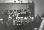 Drama class, group picture in Green Room of Little Theatre, taken January 30, 1966
