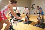 Group cycling class at the Fitness Center
