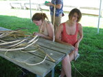 making rope out of dogbane