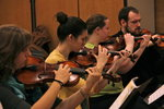 Students play violin