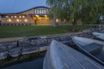The Robert B. Tallman Rowing Center as seen at dusk.