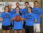 Bombers team poses at Swish for Make-A-Wish on April 20 in the Fitness Center Mondo Gym on Ithaca College's campus.