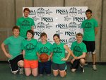 Tunesquad team poses at Swish for Make-A-Wish on April 20 in the Fitness Center Mondo Gym on Ithaca College's campus.
