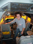 Casey Byrne (IC Physics '13) on the SOFIA flight deck