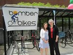 Bike Shleter and Ribbon Cutting