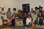 a group shot of the chem club students at Spooky Science `06