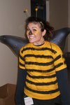 Nikki dressed as a bee!