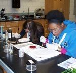 Students in Microbiology Lab