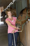 Tina Caswell poses with horse