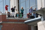 egg drop contest on CNS terrace
