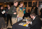 Jeremy Scahill Signing Book for Students