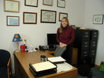 Cindy in previous office located in Finger Lakes Sports Medicine,