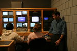Jerry in the control room with students