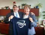 Provost Rifkin and Susan Bassett, Director of Intercollegiate Athletics