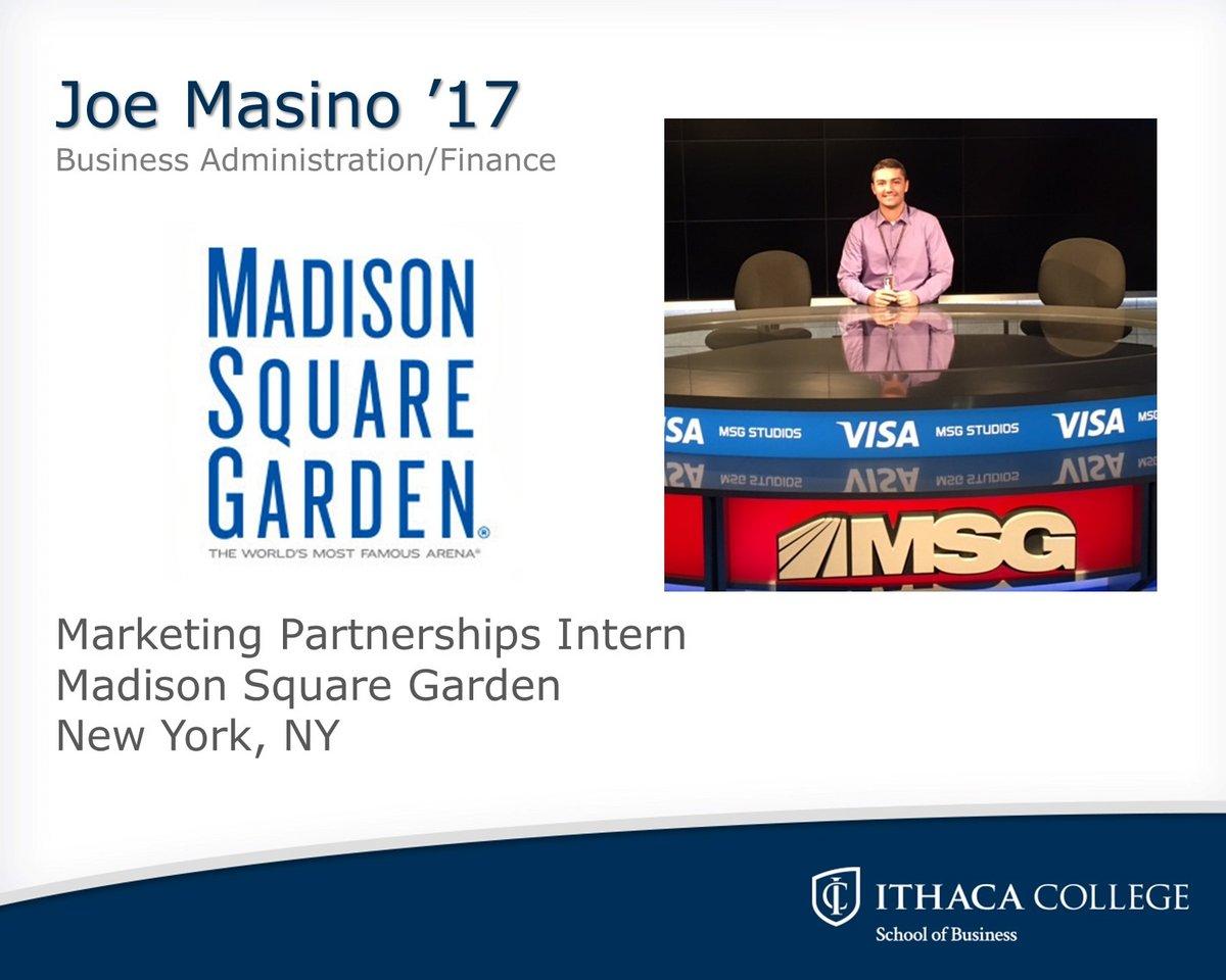 Internship Spotlight - School of Business - Ithaca College