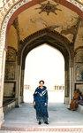 In doorway of Lahore Fort, Pakistan