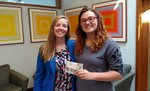 Passport to PRW winner Naomi Hanson '19 with President Collado's Chief of Staff Amanda Lippincot