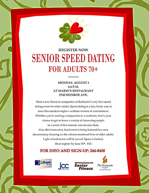 Seniors speed dating