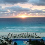 sunrise over sea in Cancun, Mexico