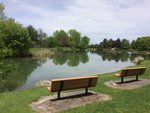 Chapel Pond Benches at Ithaca College