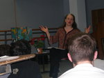Carolyn Goelzer conducts Freshman scene study students