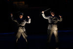 Gary G. Howell '08 plays Officer Lockstock and Patrick Hunter '10 plays Officer Barrel