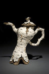 "2008 Fine Art Winner, ""Sassy Birch Teapot"" by Eric Sarritella '85"
