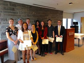 2016 Reception for Economics Students of Distinction