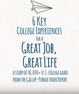 6 Key College Experiences for a Great Job, Great Life
