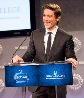ABC World News Tonight anchor David Muir accepts the Jessica Savitch Award of Distinction for Excellence in Journalism. Photo credit: Francine Daveta
