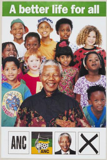 "ANC, ""A better life for all"" (1994) (Melville J. Herskovits Library of African Studies, Northwestern University)"