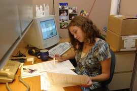 A CMD student working as an intern for the Smithsonian Institution.